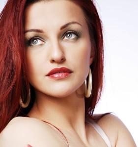 Redhead woman.