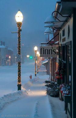 Main Street, Garrison in Winter